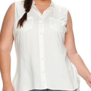 New listing: white sleeveless top